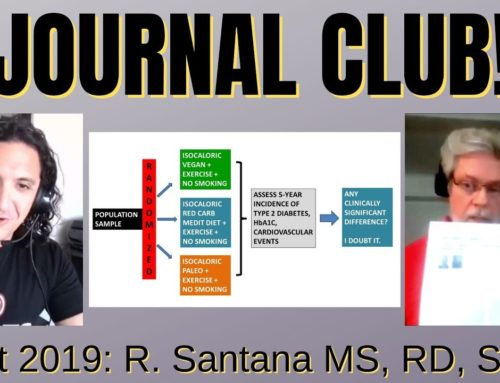 Greysteel Journal Club Oct '19 w. Robert Santana MS, RD, SSC
